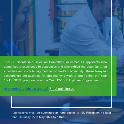 ISL External scholarship programme   image