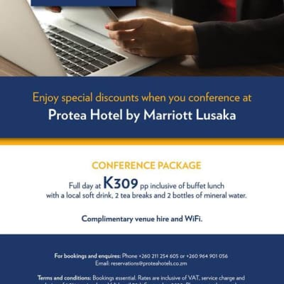 Enjoy special discounts when you conference at Protea Lusaka image