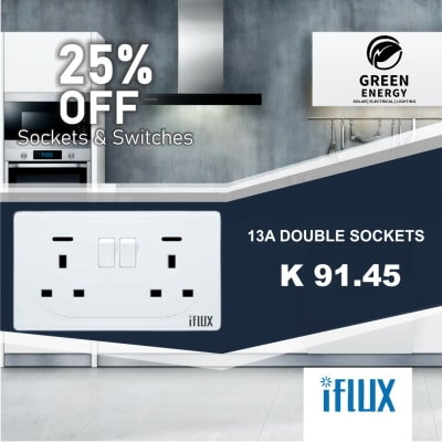 25% Off iFlux 13A double socket image