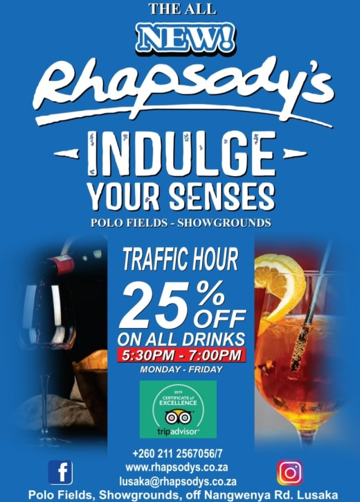Traffic hour - 25% off on all drinks
