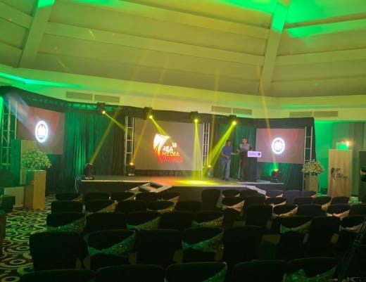 Sound, lighting, visual and stage equipment for your corporate event