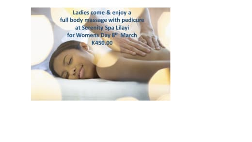 Spa specials for Women's day