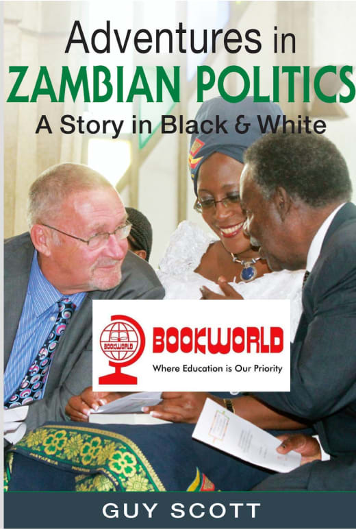 """Guy Scott's new Book """"Adventures in Zambian Politics"""" is now available across Bookworld stores"""