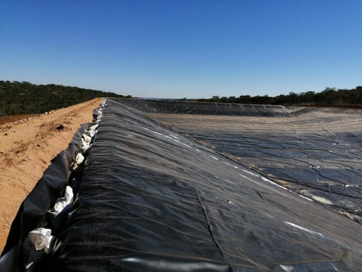 Professional pond/dam lining services