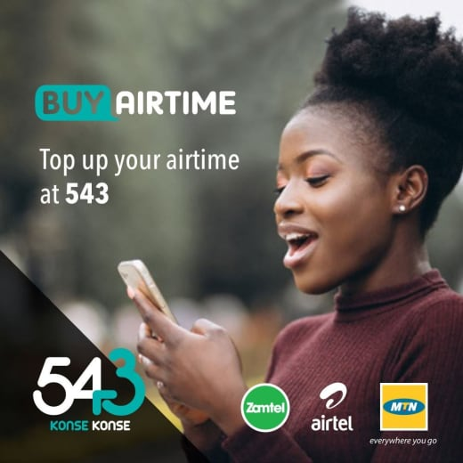 Buy Airtime at 543 for instant Top up!