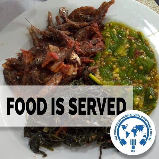 A wide selection of local as well as international cuisine