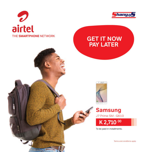 Get a smartphone now and pay later over a period of 3 - 6 months