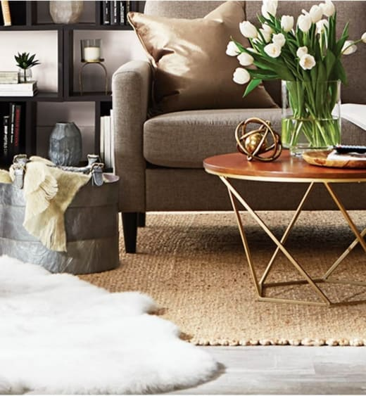 Tip for using area rug over carpet