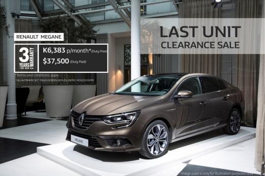 Last unit clearance sale - Renault Megane Sedan