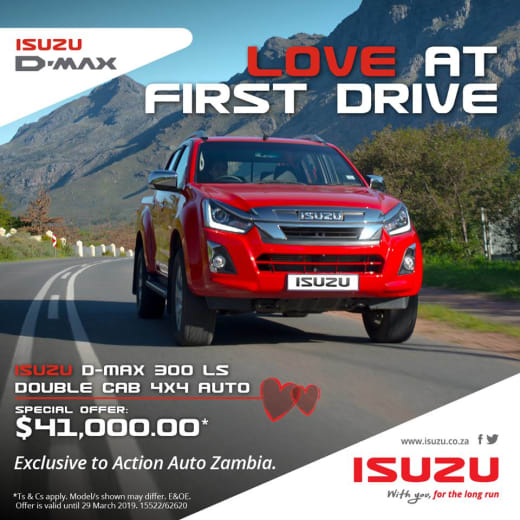 Isuzu D-MAX 300 4x4 LS AUTO Double Cab for only $41,000.00 tax inclusive