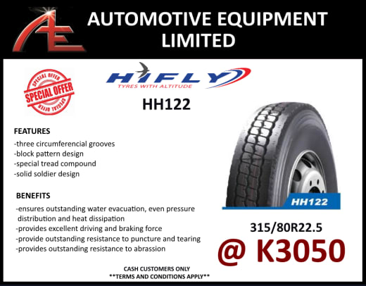 HH122 Tyres - 315/80R 22.5 at K3050