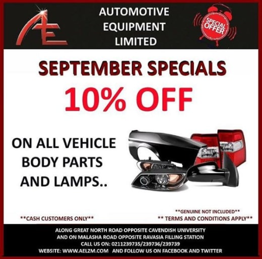 Get 10% off body parts and lamps