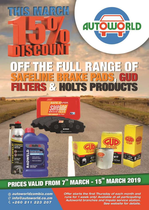 This March get 15% off on auto repair and maintenance kits