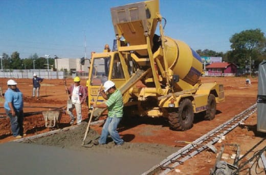 Mobile concrete on-site mixers and pumps for hire