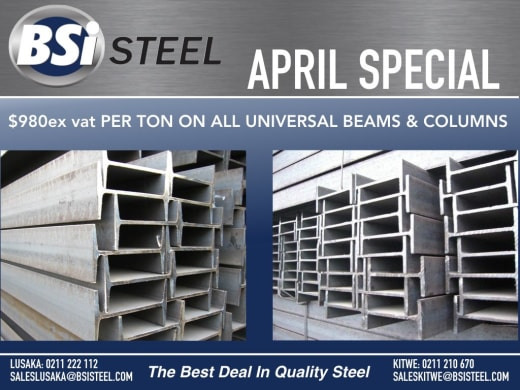 Special offer on universal beams and columns