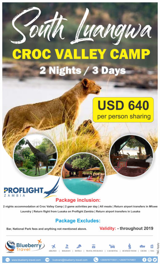 Croc Valley Camp 2 Nights / 3 Days package in South Luangwa