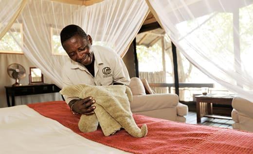 Intimate and private safari camp in the Lower Zambezi National Park