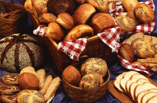 Freshly baked bread, muffins, rolls, croissants, doughnuts and more