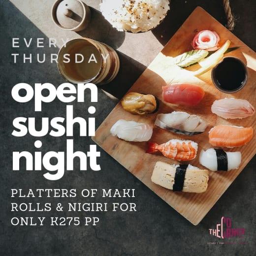 Open Sushi night every Thursday!