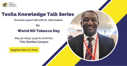 Knowledge Talk Series - World No Tobacco Day