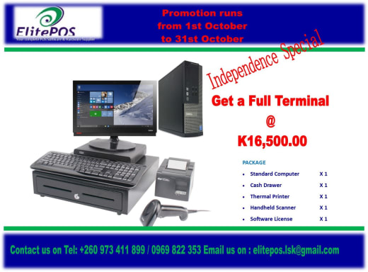 Save K6,800 on a Point of sale system