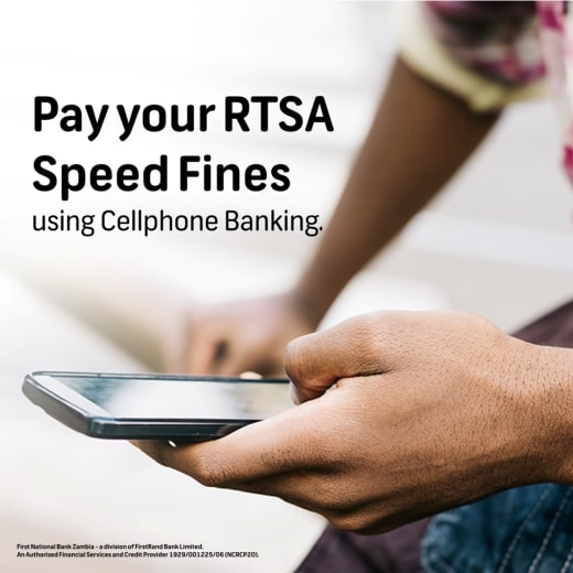 Pay your RTSA Speed Fines using Cellphone Banking