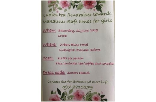 Ladies tea fundraiser torwards Makululu safe house for girls