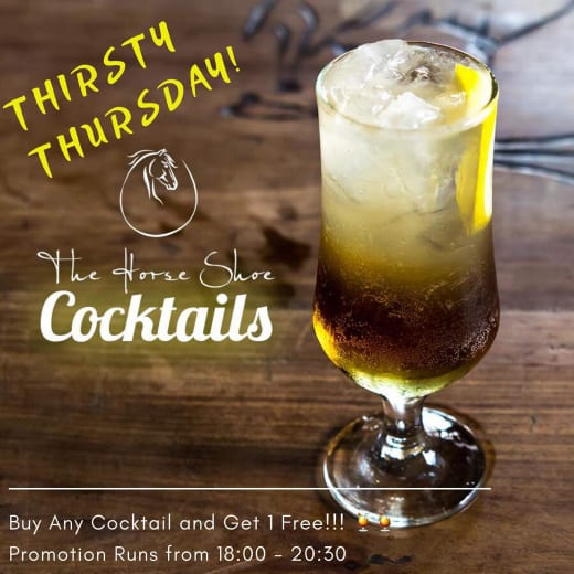 Thirsty Thursdays -  buy one cocktail and get 1 free