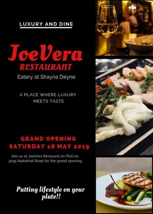 Joevera Restaurant to officially open
