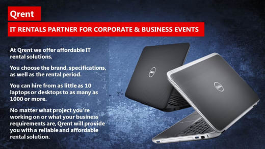 IT rentals partner for corporate and business events