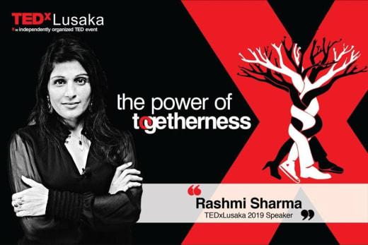 Rashmi Sharma to speak at TEDx Lusaka 2019