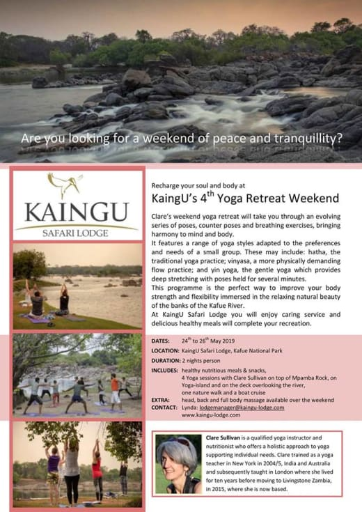 Recharge your soul and body at KaingU's 4th Yoga Retreat weekend