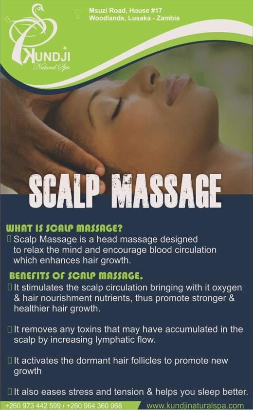 Visit Kundji Natural Spa for a scalp massage