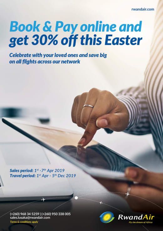 Book and pay online and get 30 % off