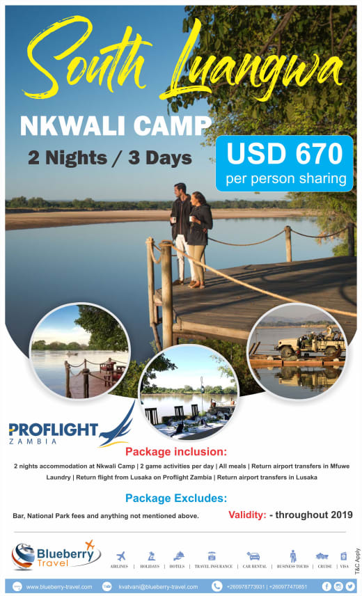 Nkwali Camp  - 2 Nights / 3 days package