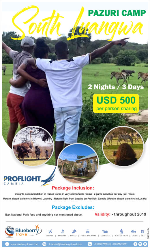 2 Nights / 3 days package at Pazuri Camp