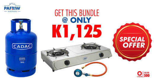 2 plate Cadac gas stove and gas cylinder at K1,125.00