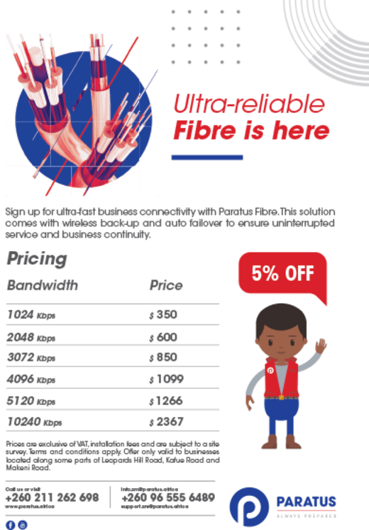 5% off ultra-fast business connectivity