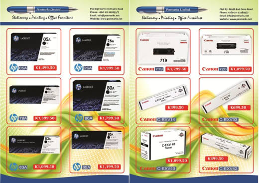 Discount on HP and Canon ink and toner cartridges