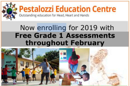 Now enrolling for 2019 with Free Grade 1 Assessments throughout February