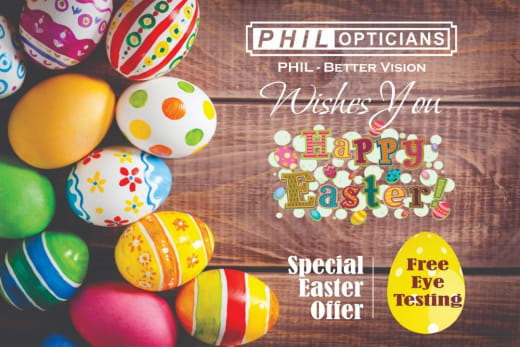 Free eye testing this Easter