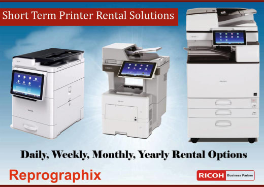 You can now rent a printer on short term basis