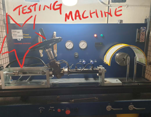 Does your steering rack supplier also test them in front of you?