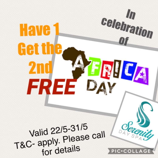 Celebrate Africa Freedom Day with Serenity Day Spa
