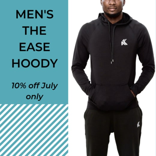 """Get 10% off """"The Ease Hoody"""" Men's collection this July"""
