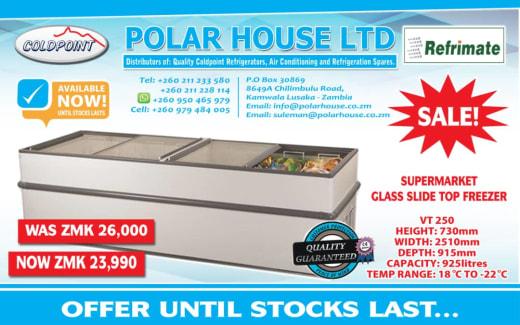 Supermarket glass top slide top freezer now on sale