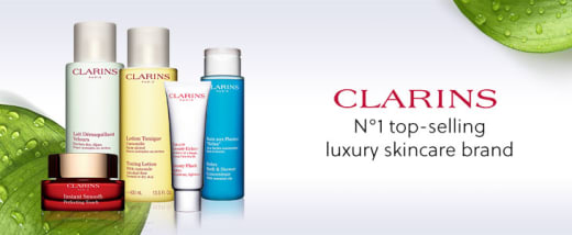 Fridays winter discount: 15% off Clarins products