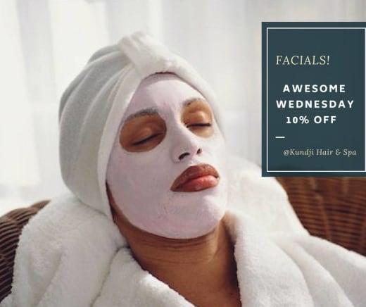 Awesome Wednesday: 10% off facials
