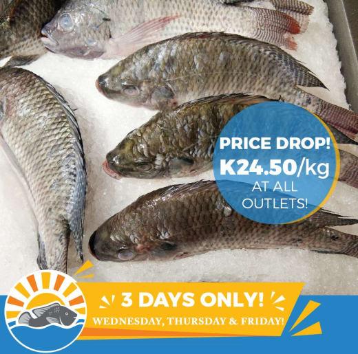 3 days price drop on fresh fish