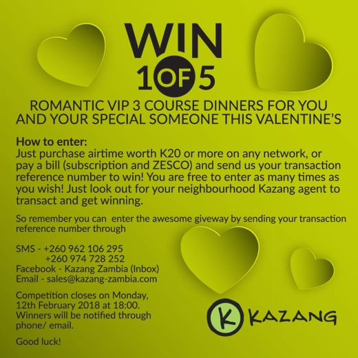 Win dinner for 2 this Valentine's Day